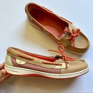 Sperry | Anglefish Boat Shoes Pink Laces